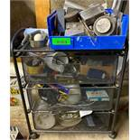 DESCRIPTION 3-DRAWER ROLLING CART W/ CONTENTS INCLUDED (VARIOUS HARDWARE) LOCATION BASEMENT THIS LOT
