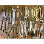 DESCRIPTION ASSORTED WRENCHES AS SHOWN LOCATION BASEMENT THIS LOT IS ONE MONEY QUANTITY 1