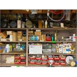 DESCRIPTION CONTENTS OF SHELVING UNIT (LARGE ASSORTMENT OF HARDWARE AND ACCESSORIES AS SHOWN, SEE PH