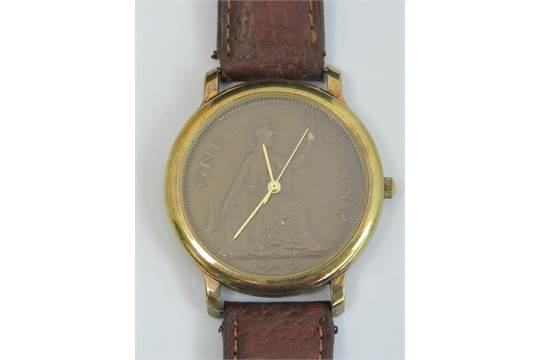 A 'Pennywatch' by Peers Hardy of England, 1945 one penny dial with