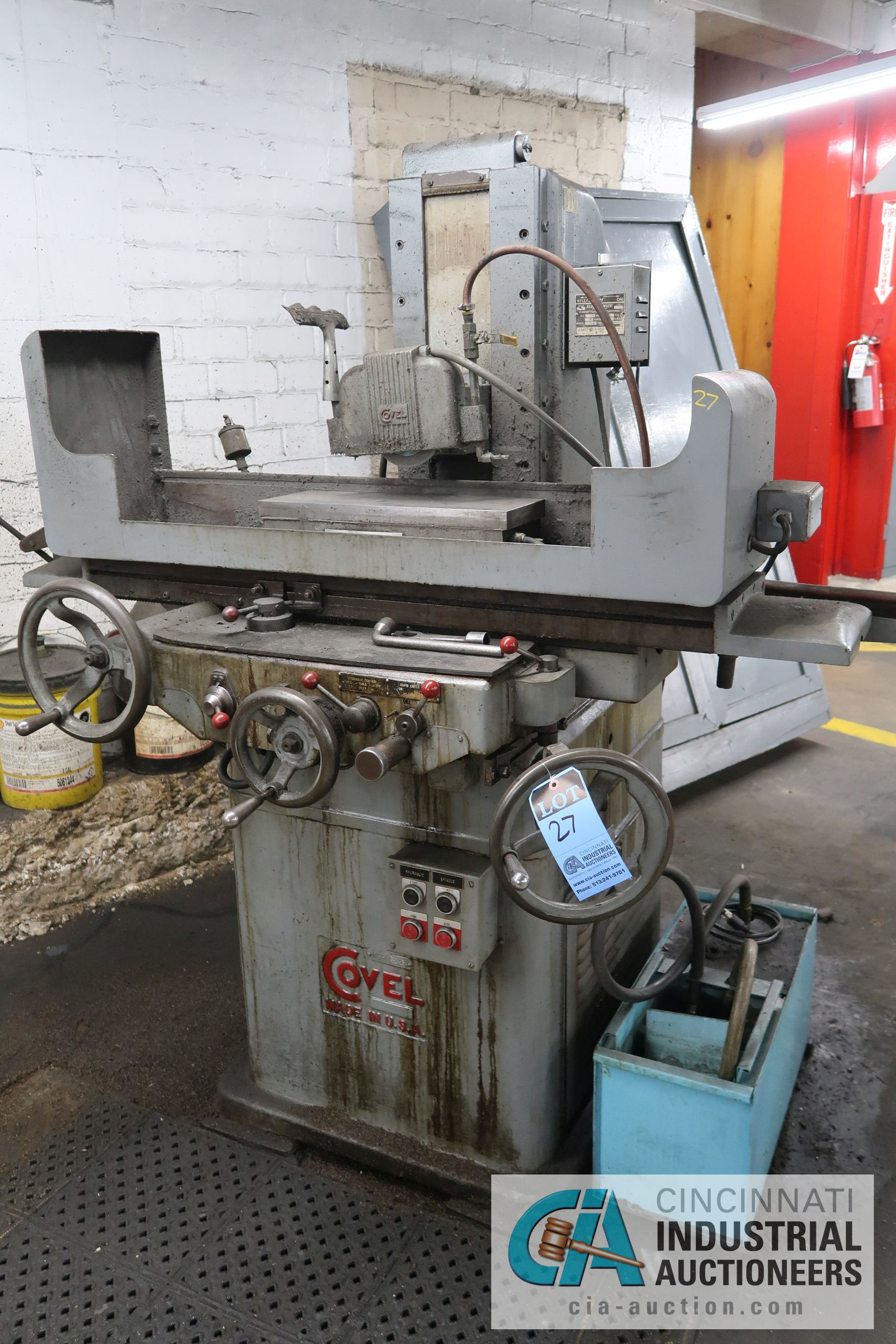 "6"" X 18"" COVEL SURFACE GRINDER; S/N 10H-544, MAGNA-LOCK CORP ELECTROMAGNETIC CHUCK"