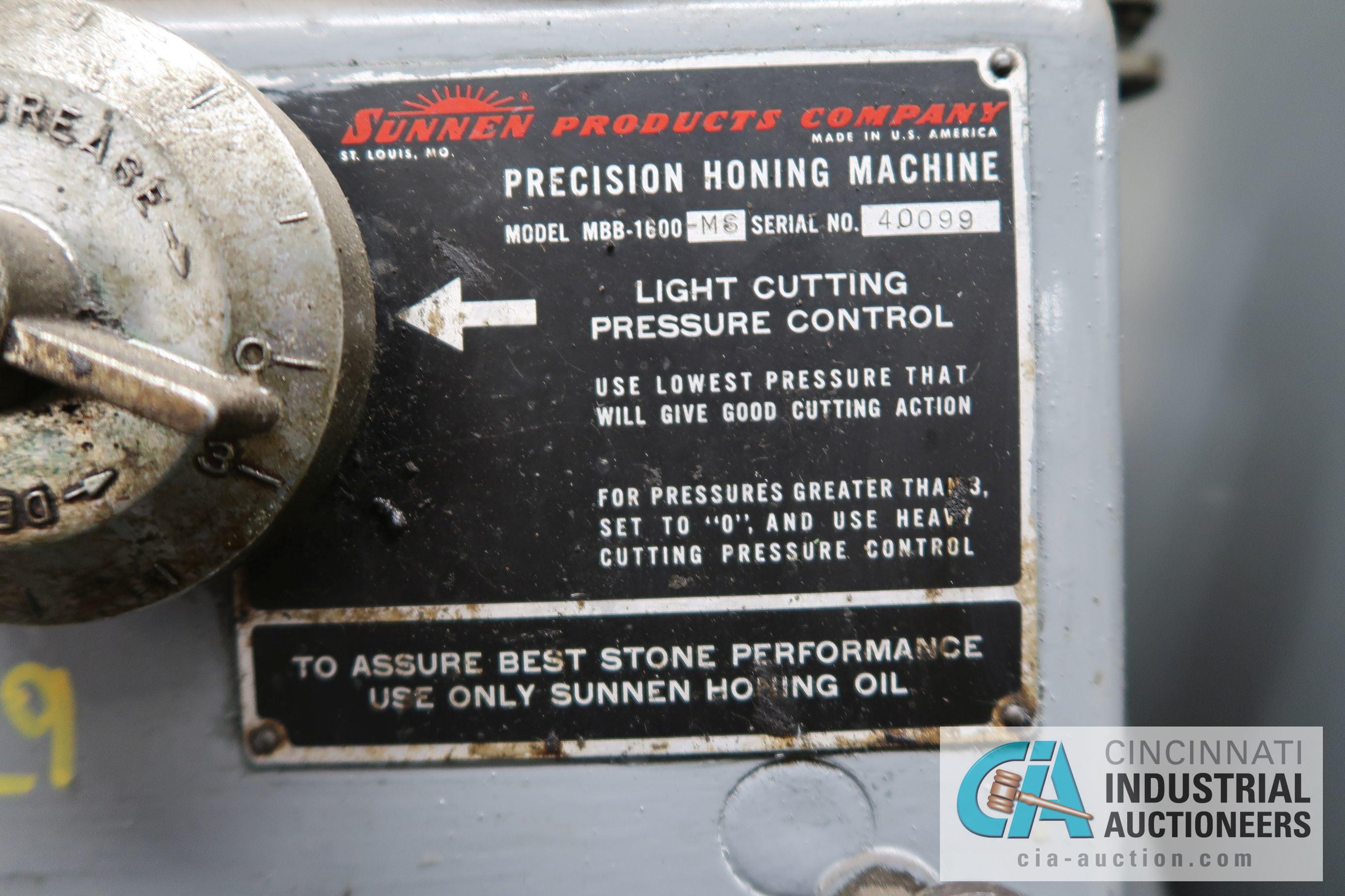 SUNNEN MBB-1600-M6 PRECISION HONING MACHINE; S/N 40099 - Image 5 of 5