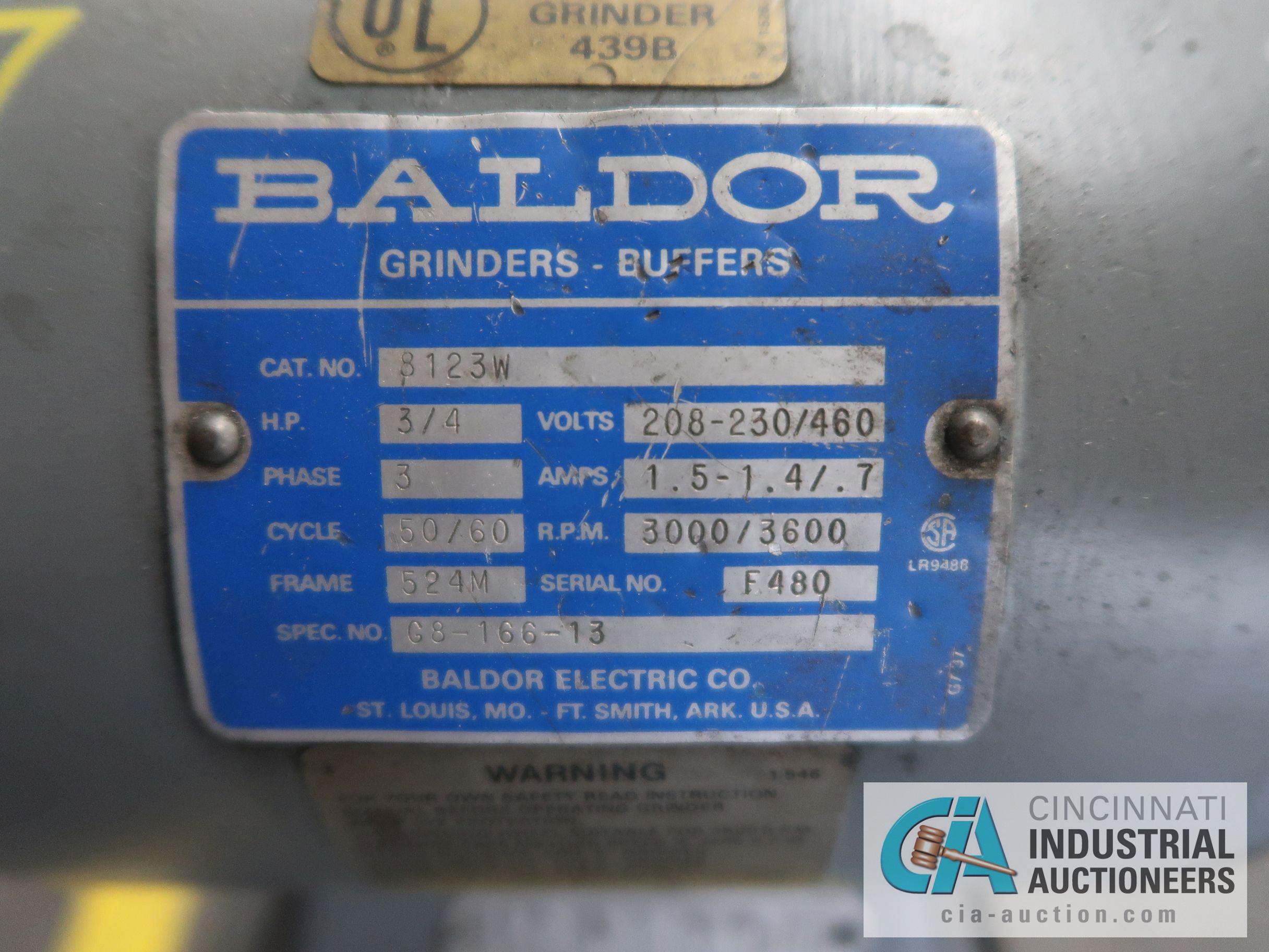 3/4 HP BALDOR DOUBLE END GRINDER - Image 4 of 4