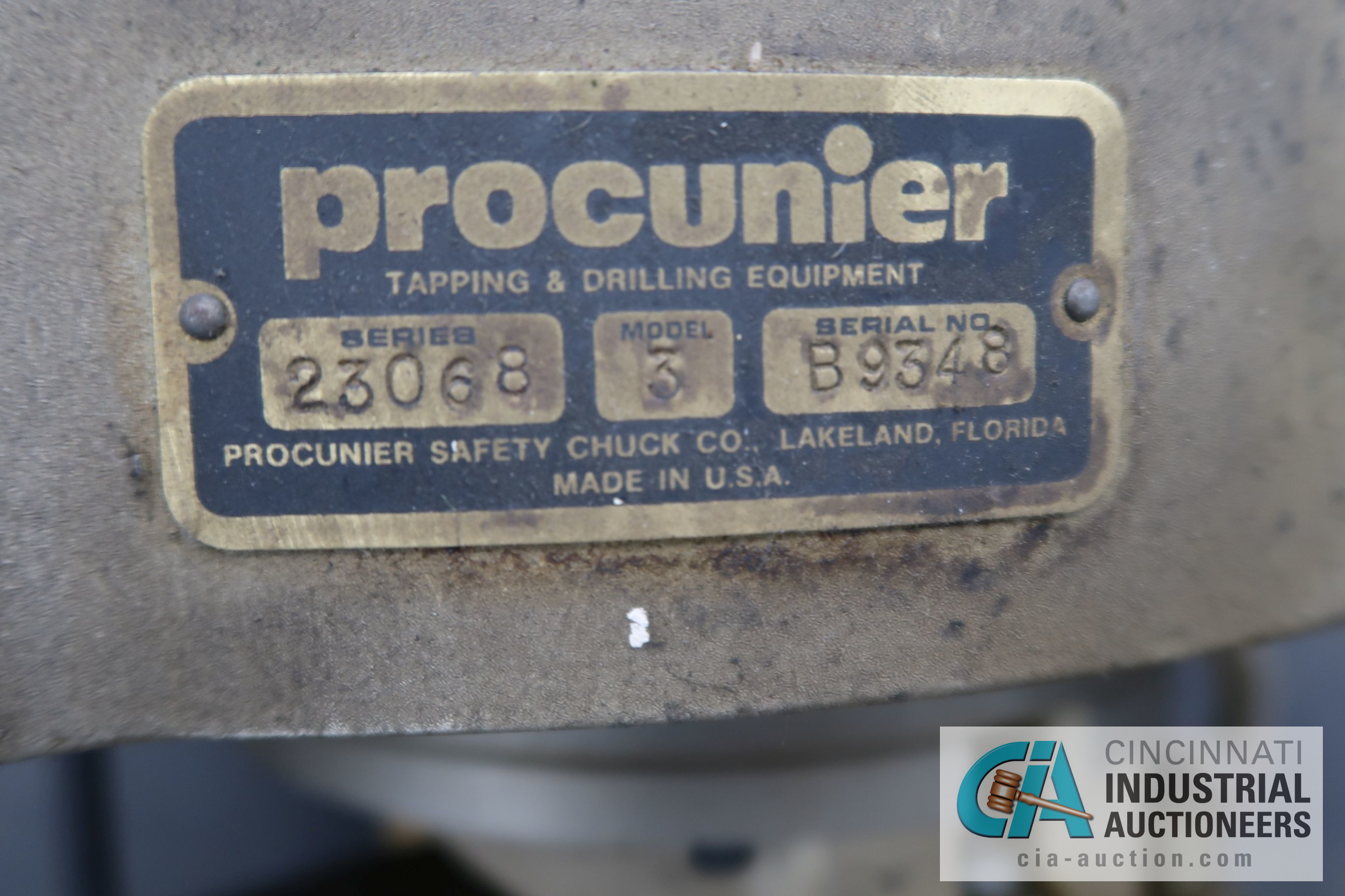 PROCUNIER MODEL 3 TAPPING HEAD - Image 3 of 3