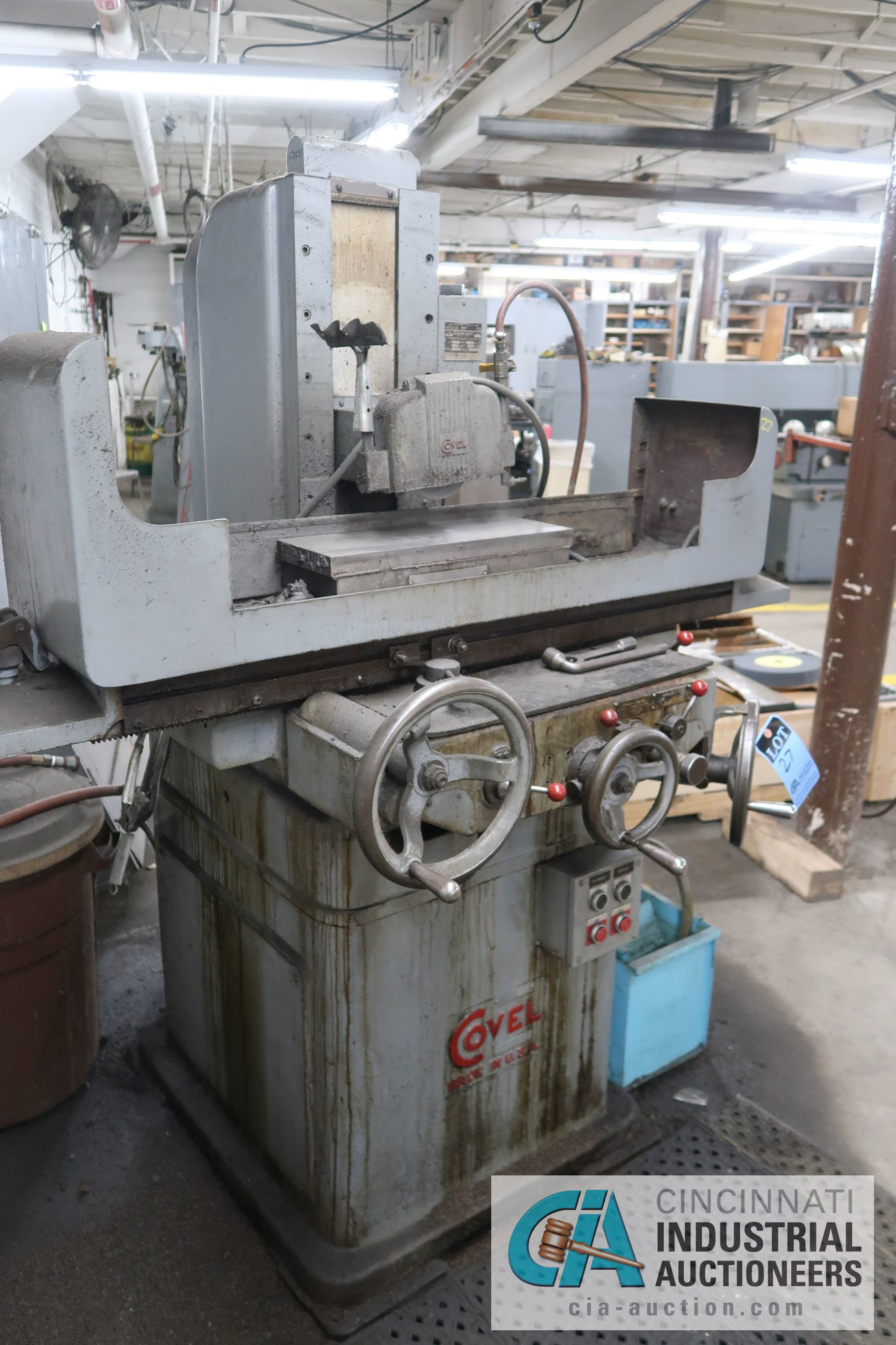 "6"" X 18"" COVEL SURFACE GRINDER; S/N 10H-544, MAGNA-LOCK CORP ELECTROMAGNETIC CHUCK - Image 2 of 6"