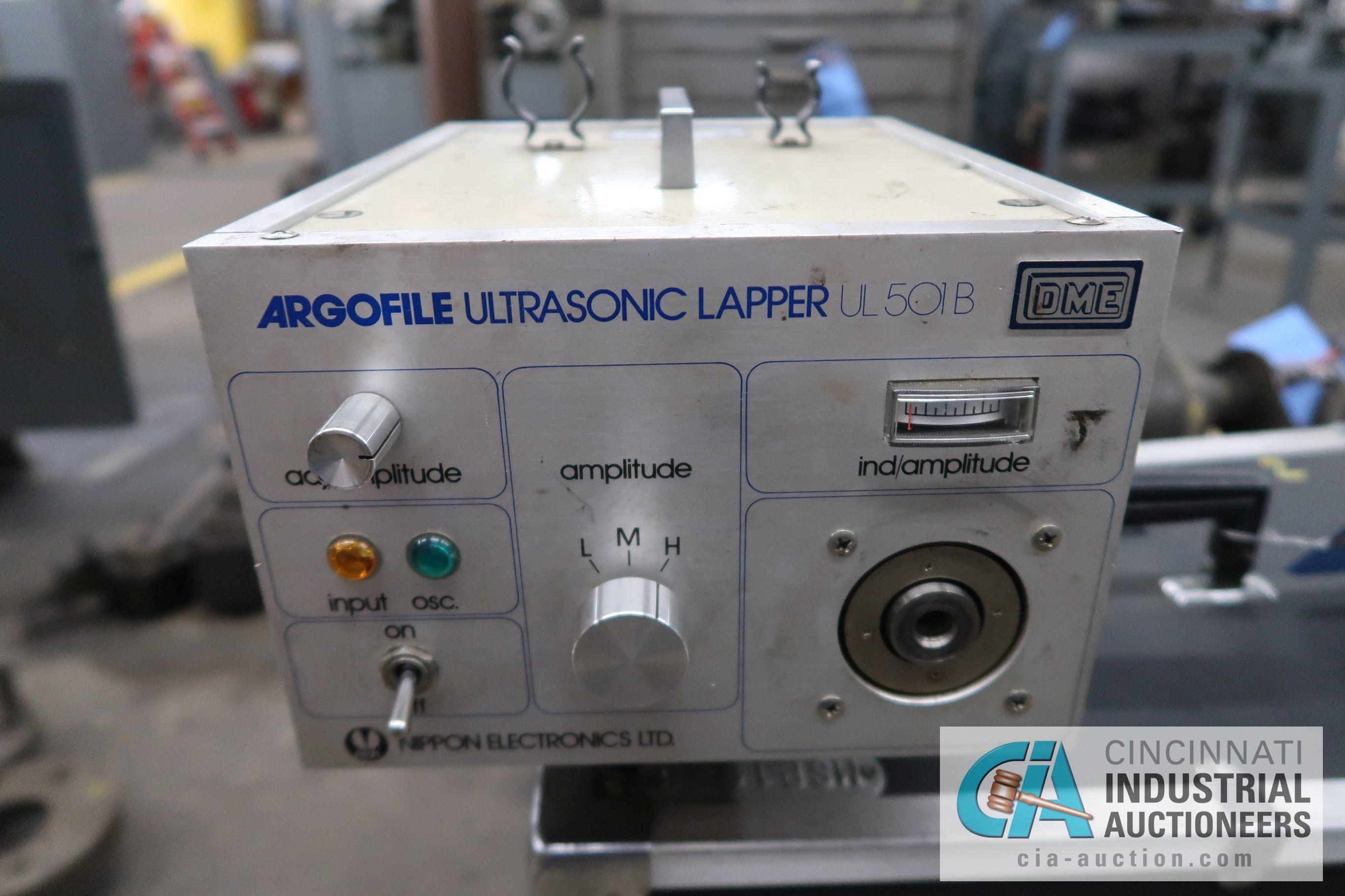 D-M-E MODEL UL-501B ARGOFILE ULTRASONIC LAPPER