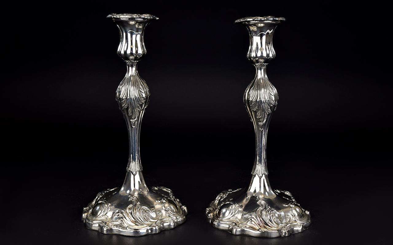 Lot 122A - 18th Century Style Pair of Silver Plated