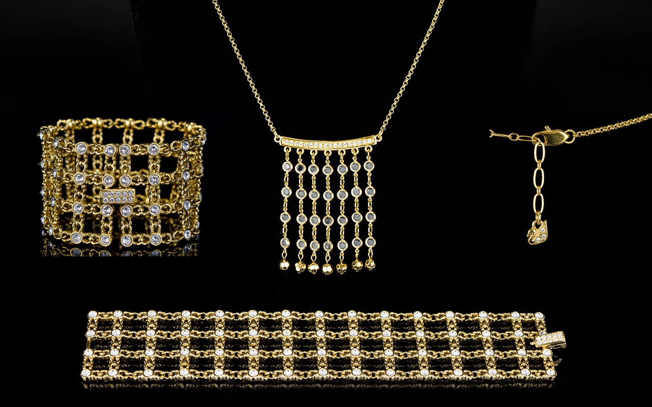 Lot 41 - Swarovski Cut Crystal and Gold Plated St
