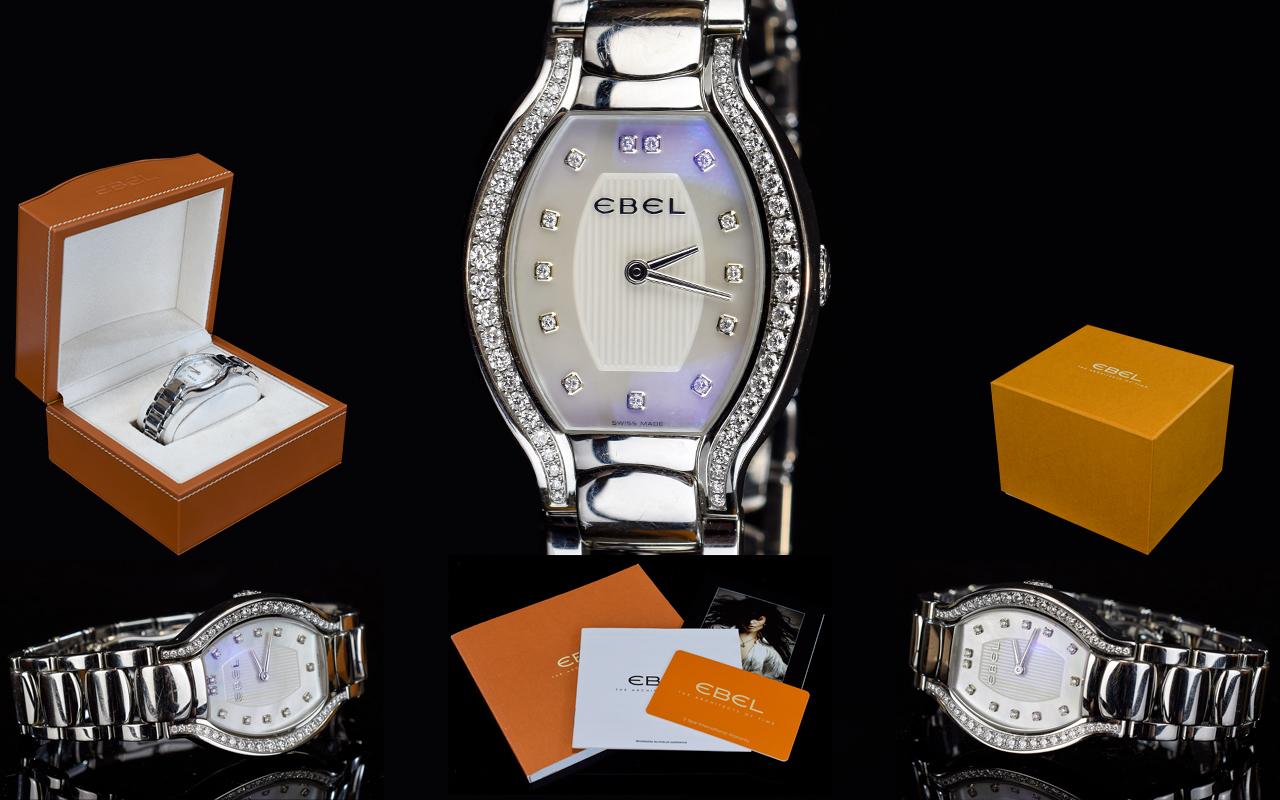 Lot 82 - Ebel - Ladies Beluga - Diamond Set Stain