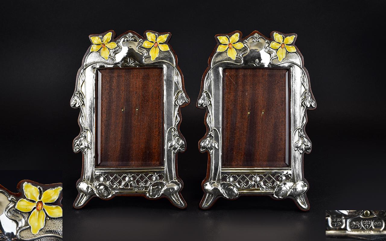 Lot 151 - A Fine Pair of Art Nouveau Period - Silv
