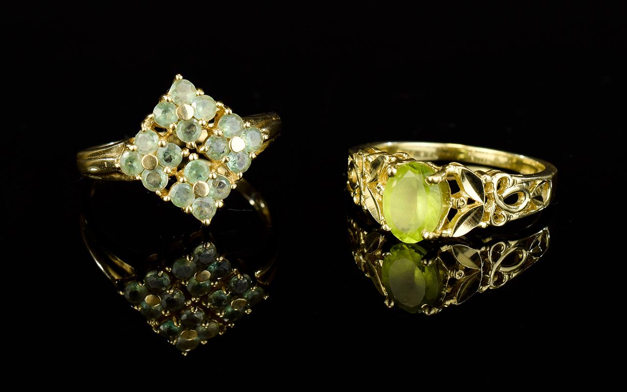 Lot 52 - 14ct Yellow Gold Single Stone Peridot (P