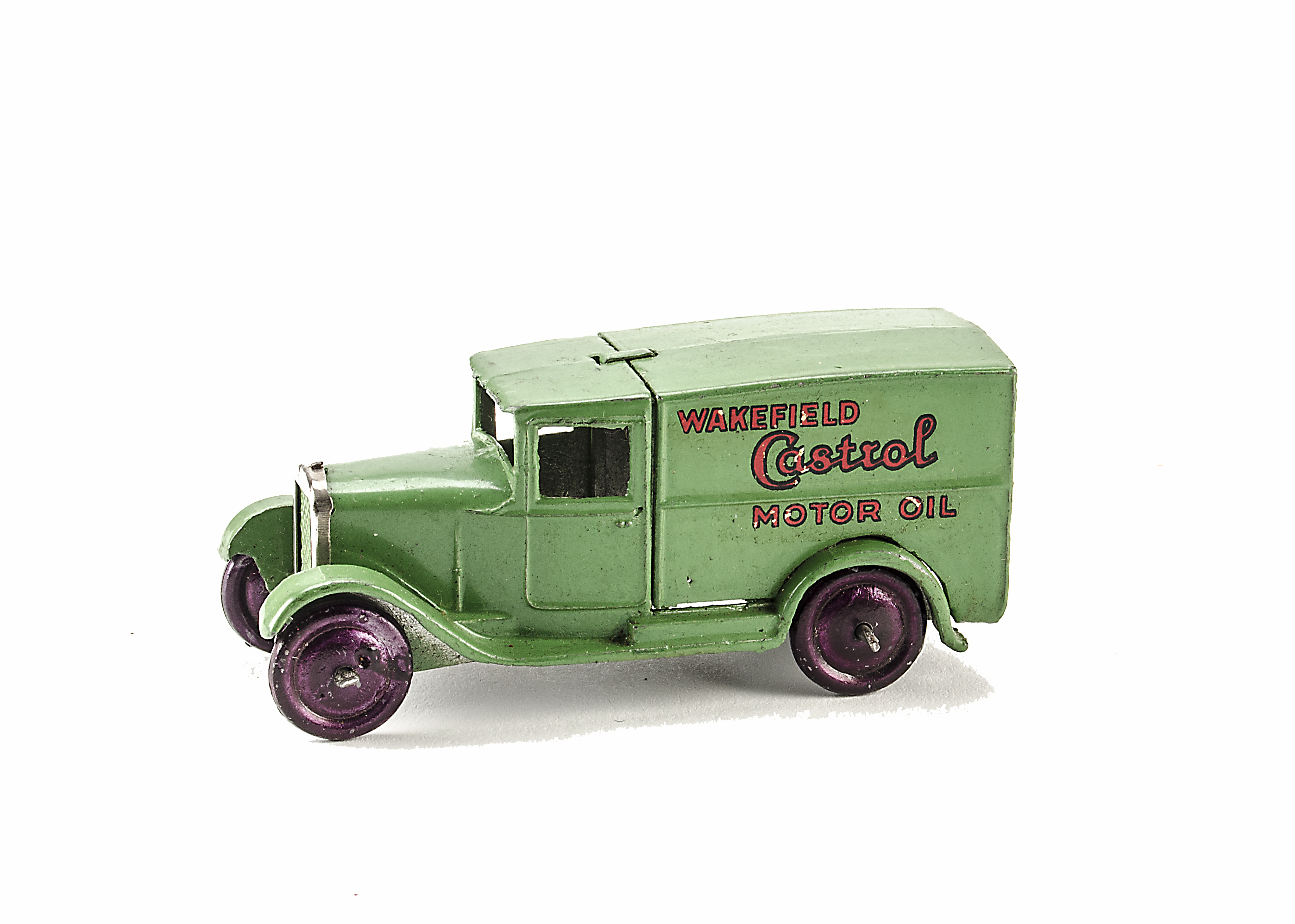 """Lot 35 - A Pre-War Dinky Toys 28m 'Wakefield's Castrol' Delivery Van, type 1, """"Meccano Dinky Toys"""" cast to"""
