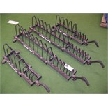 WEIGHT PLATE MOVEABLE FLOOR RACKS LOT OF 4