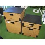 POWERLIFT PLYOMETRICS BOX LOT OF 5