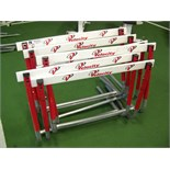 HURDLES RED LOT OF 6 ADJUSTABLE FITNESS