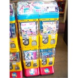 TOMY GACHA DUAL COLUMN CAPSULE VENDING MACHINE Item is in used condition. Evidence of wear and