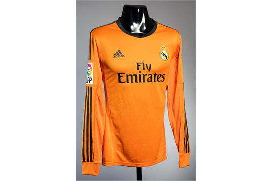 competitive price 130bf 8bf5f Cristiano Ronaldo: an orange Real Madrid No.7 away jersey ...