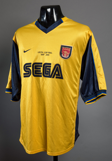 An Arsenal kit room spare jersey for the 2000 UEFA Cup Final 18395e360