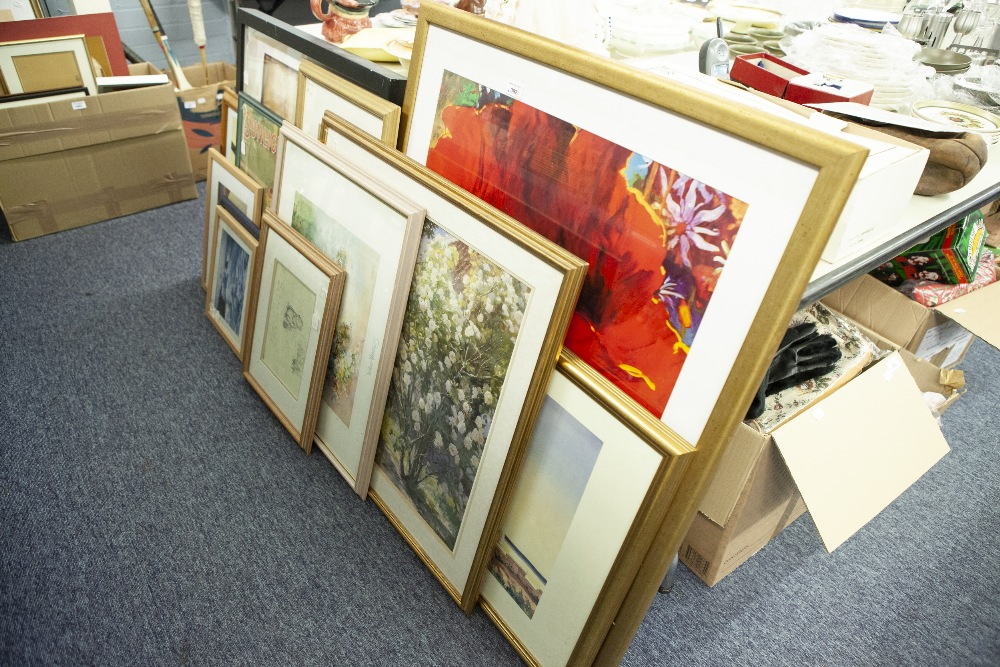 Lot 392 - TWELVE VARIOUS ARTIST SIGNED LIMITED EDITION AND OTHER COLOUR PRINTS ETC.....