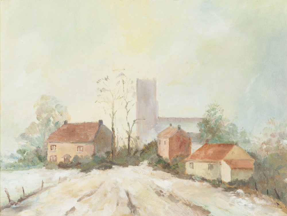 Lot 346 - PHYLLIS FROST (TWENTIETH CENTURY) PAIR OF OIL PAINTINGS ON ARTIST BOARD One titled: 'Southwold,