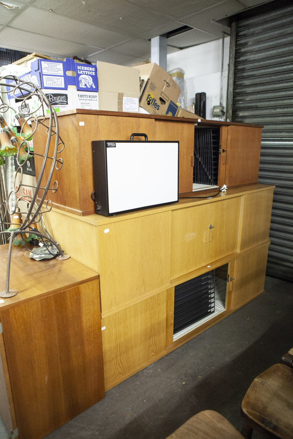 Lot 60 - THREE ABADIA CABINETS FOR SLIDE VIEWING AND STORAGE 2 x 5000 AND 1 X 2500 AND A FLORESCENT LIGHT BOX