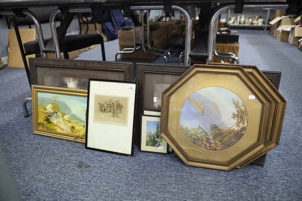 Lot 400 - A COLLECTION OF PAINTING AND PRINTS VARIOUS (9)