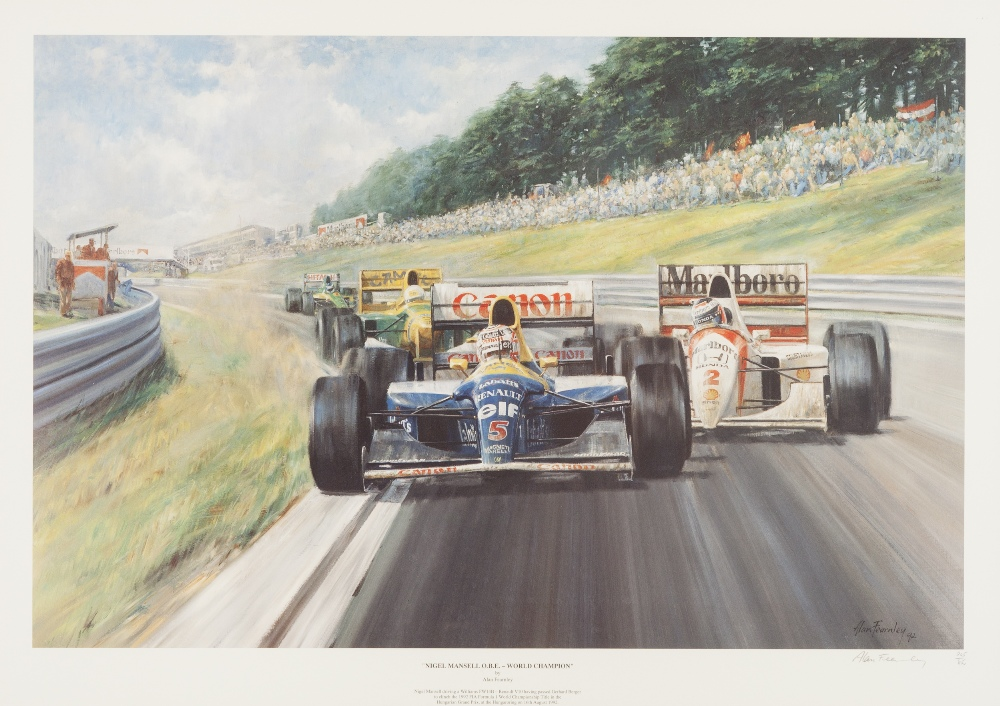 Lot 337 - TONY SMITH ARTIST SIGNED REPRODUCTION COLOUR PRINT 'Il Leone - World Champion' Autographed by