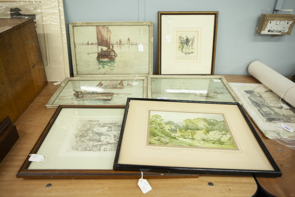 Lot 391 - JOSEPH HALFPENNY (1748-1811) ENGRAVINGS, TWO York Minster details, Published 1889' (mounted but