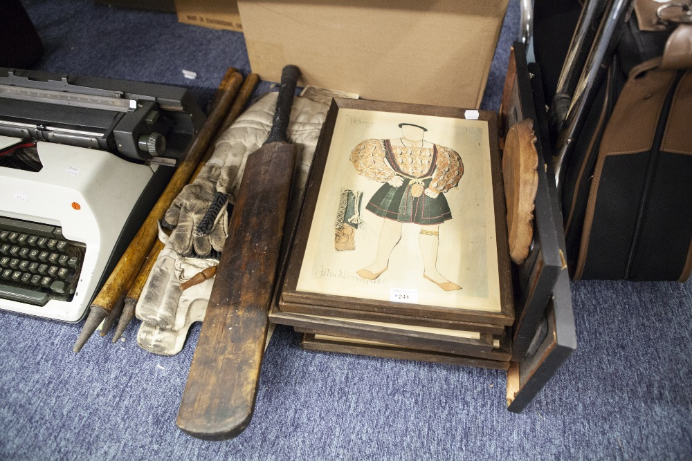 Lot 241 - A COLLECTION OF EIGHT COLOUR PRINTS OF HENRY VIII AND WIVES AND TWO OTHERS