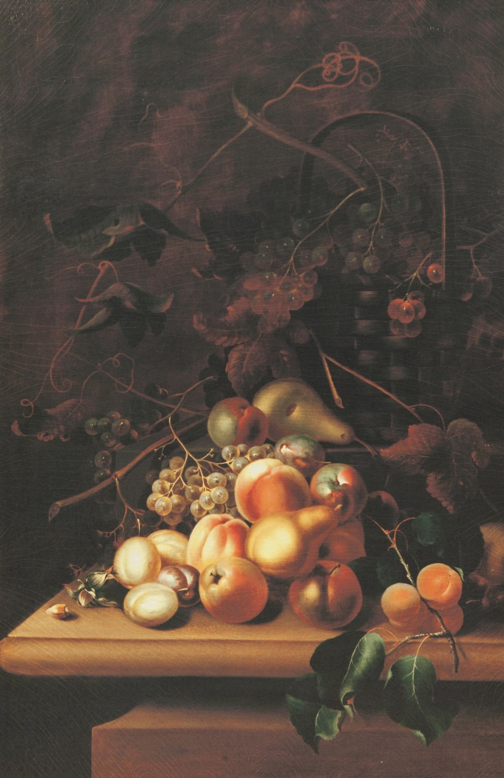 Lot 372 - AFTER THE ORIGINAL FROM THE HAMILTON ART COLLECTION COLOUR PRINT ON CANVAS Still life-fruit on a
