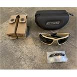 MILITARY ISSUED GLASSES BRAND NEW WITH CASE AND EXTRA LENSES + 9MM DOUBLE MAGAZINE HOLDER