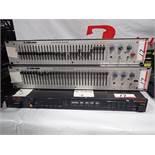 LOT - ROLAND SDE-3000 DIGITAL DELAY, & (1) KLARK-TEKNIK DN300 GRAPHIC EQ, & (1) KLARK-TEKNIK DN301