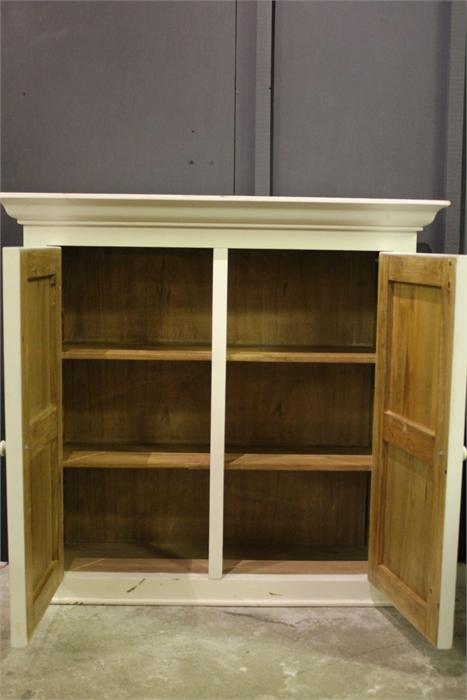 Lot 35 - A painted cupboard - modern