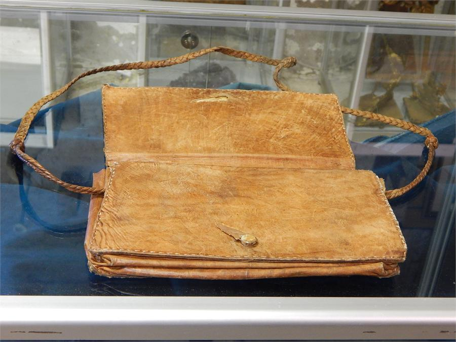 Lot 42 - Snakeskin handbag in poor condition.