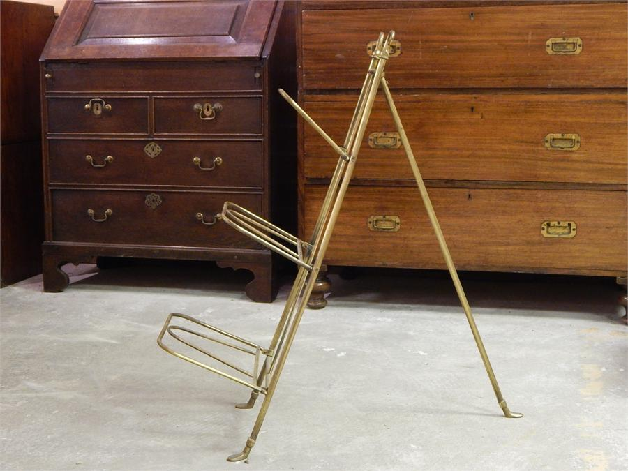 Lot 3 - Brass Music / Folio / Pot Stand - early 20th Century with 3 tiers
