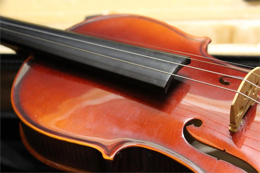 Lot 48 - Half Violin by Ashton in case including bow.