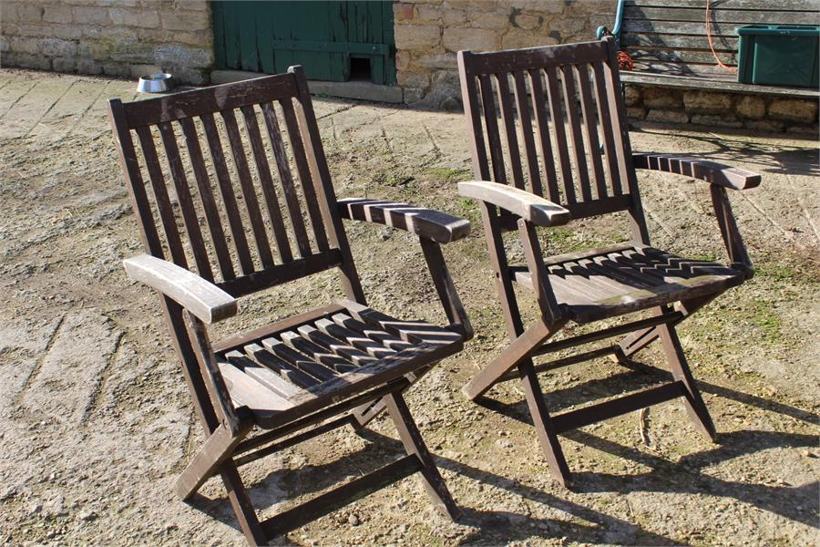 Lot 10 - Two folding garden chairs.