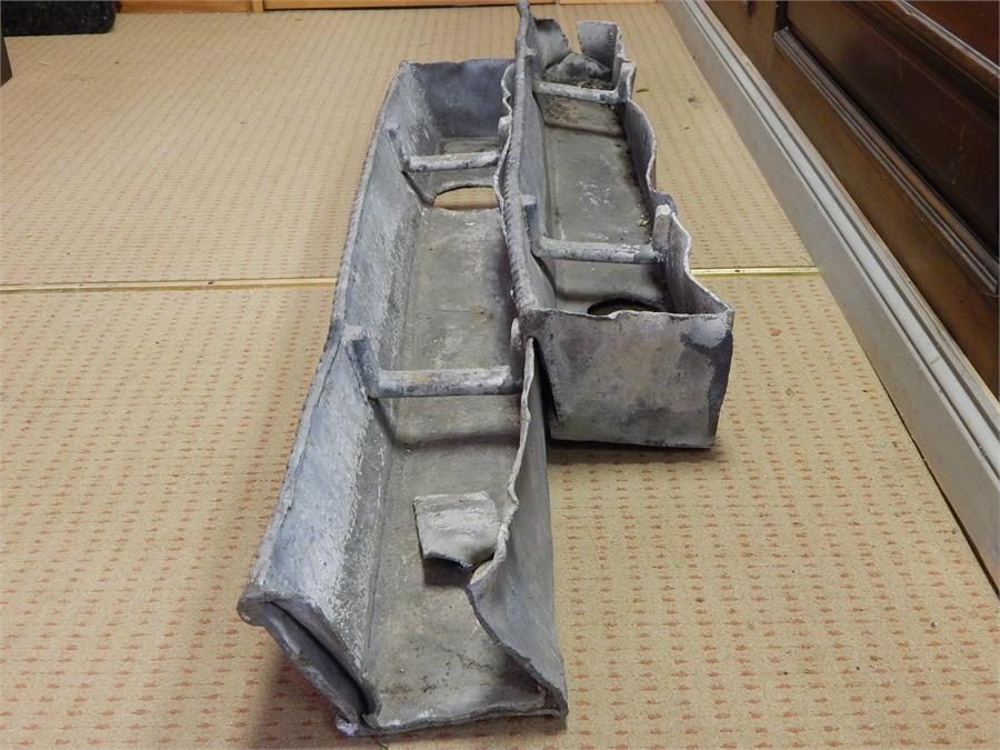 Lot 26 - Two Lead hopper Planters - Early 19th Century 138 & 146cm ~
