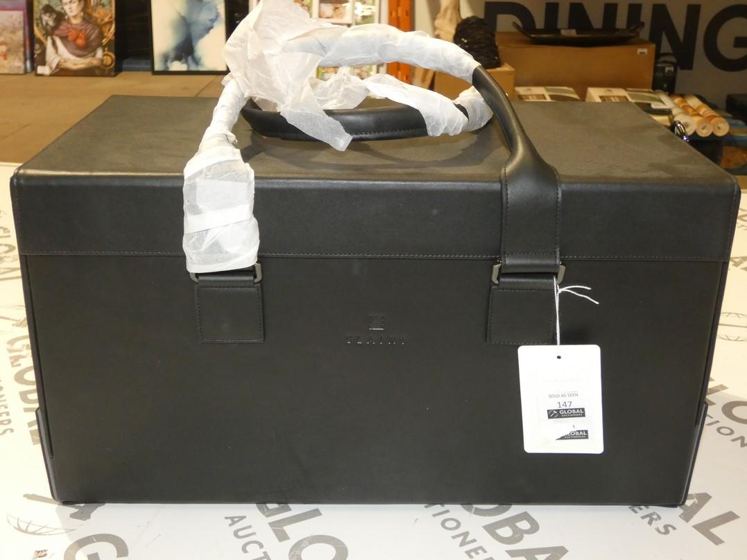 Lot 147 - Slaint Eruvian Black Leather Holdall RRP £600