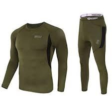 Lot 906 - Brand New ESDY Black and Khaki Thermal Gents Under Garments