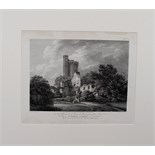 "Lot 374 - After Thomas Hearne (1744-1817, British) engraved by W Byrne ""...View of Caister Castle..."" black"