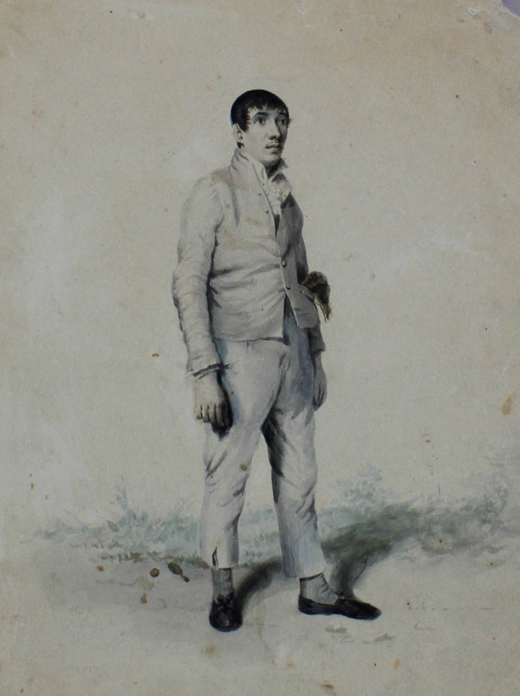 "Lot 375 - Norwich School ""(Robert) Skipper, pedestrian"" watercolour, unsigned 255mm x 190mm Skipper was a"