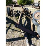 Trailer frame and trailer frame w/ axle, plus 4 additional tires