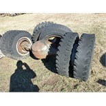 axle and extra tires