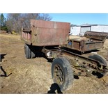 Old truck frame w/ dump box