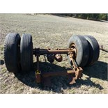 heavy duty axle w tires and wheels