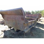 10' dump box w/ hoist and scrap contents