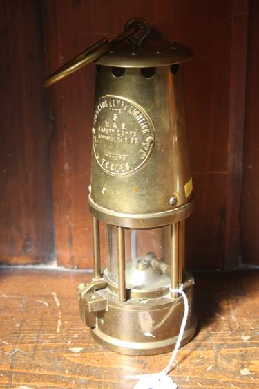 Lot 33 - An Eccles miners lamp