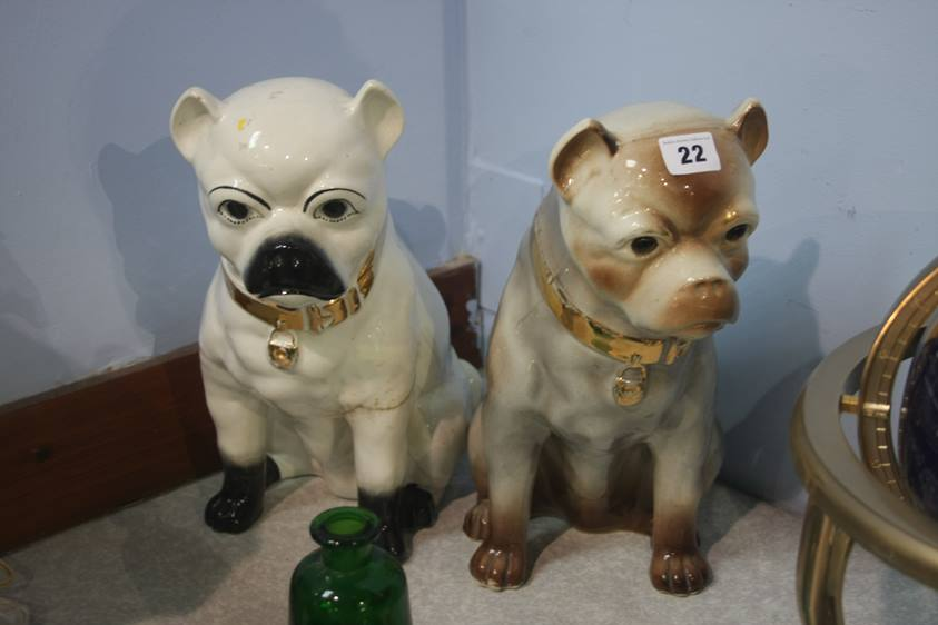 Lot 22 - Two pot pugs