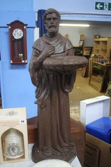 Lot 60 - A Monk bird bath